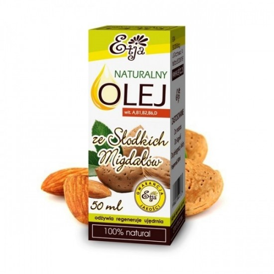 Naturalny olej ze słodkich migdałów Etja