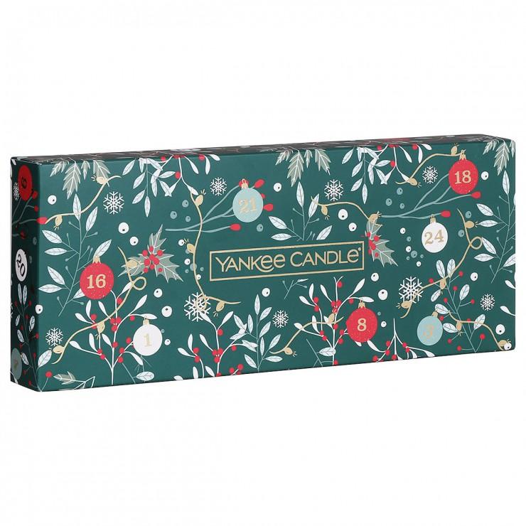 Countdown To Christmas  - zestaw 10 zapachowych tealights + świecznik Yankee Candle