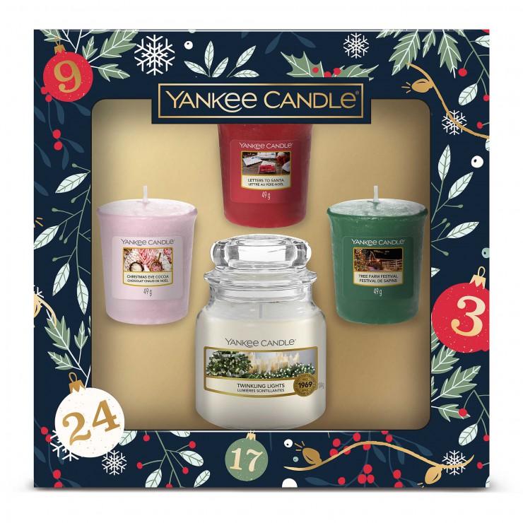 Countdown To Christmas - zestaw 3 świec typu votive z małą świecą Yankee Candle