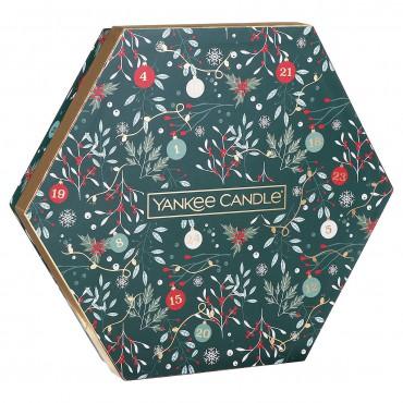 Countdown To Christmas - zestaw 18 tealightów + świecznik na tealight Yankee Candle