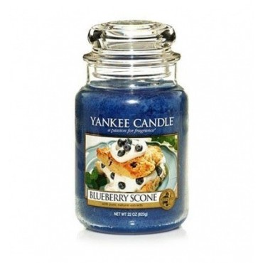 Duża świeca Blueberry Scone Yankee Candle