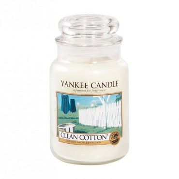 Duża świeca Clean Cotton Yankee Candle