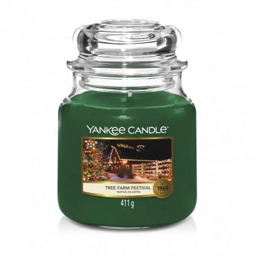 Średnia świeca Tree Farm Festiva Yankee Candle