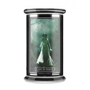 Duża świeca Lady in White Kringle Candle