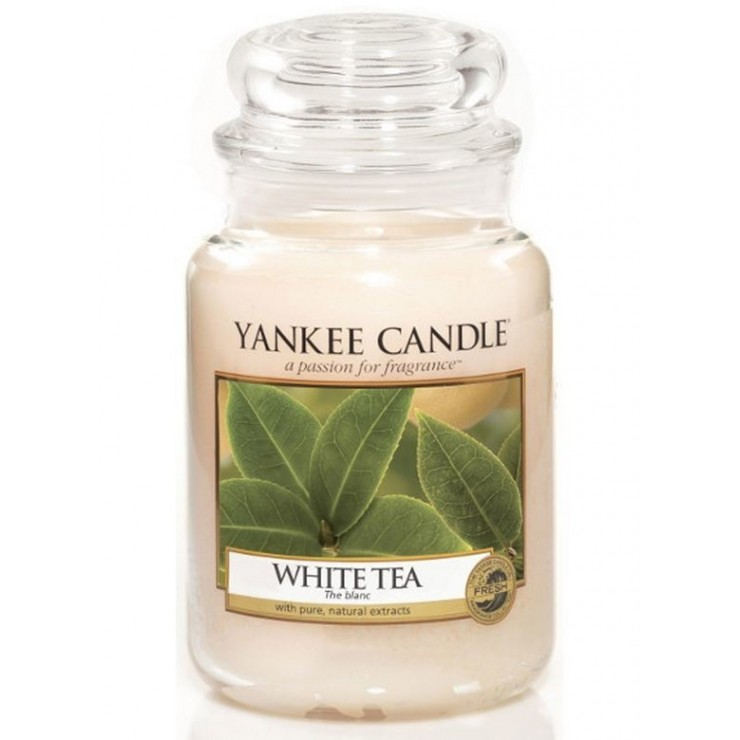 Duża świeca White Tea Yankee Candle