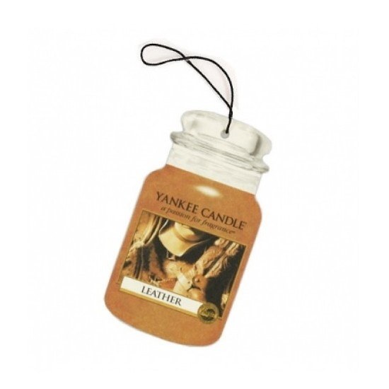 Car jar Leather Yankee Candle