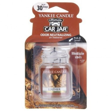 Car jar ultimate Leather Yankee Candle