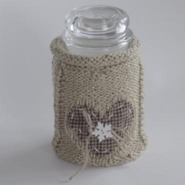 Sweterek na świece z serduszkim i gwiazdką + czapka