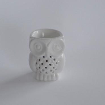 Świecznik ceramiczny Sowa