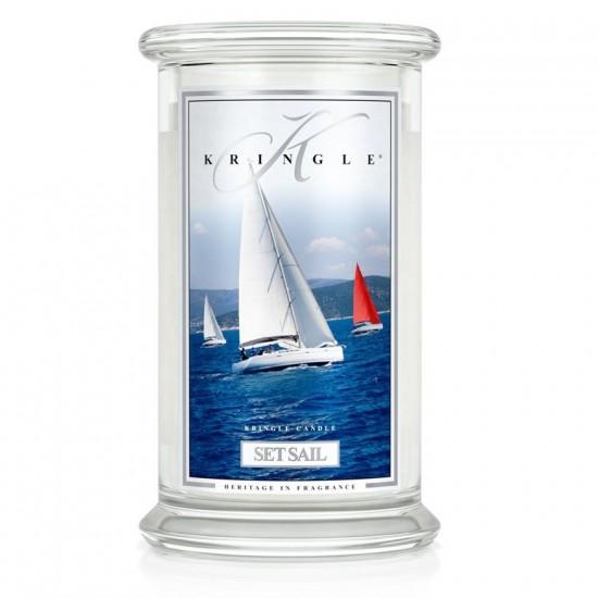 Duża świeca Set Sail Kringle Candle