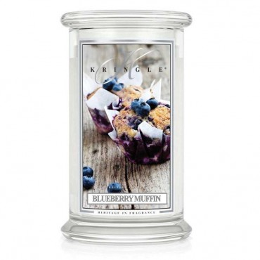 Duża świeca Blueberry Mufin Kringle Candle