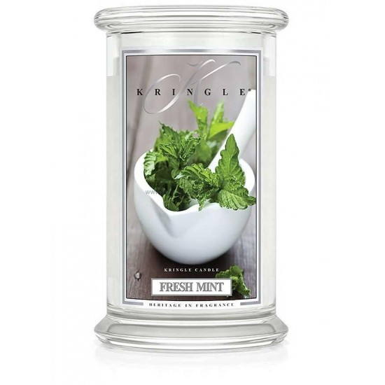 Duża świeca Fresh Mint Kringle Candle