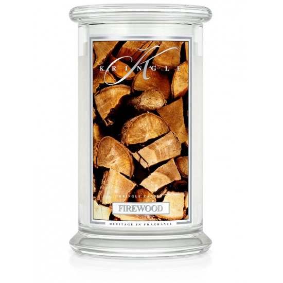 Duża świeca Firewood Kringle Candle