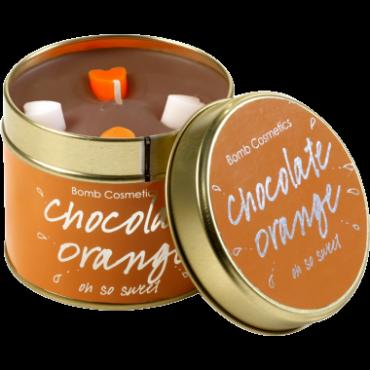 Świeca zapachowa w puszce CZEKOLADOWA POMARAŃCZA Bomb Cosmetics