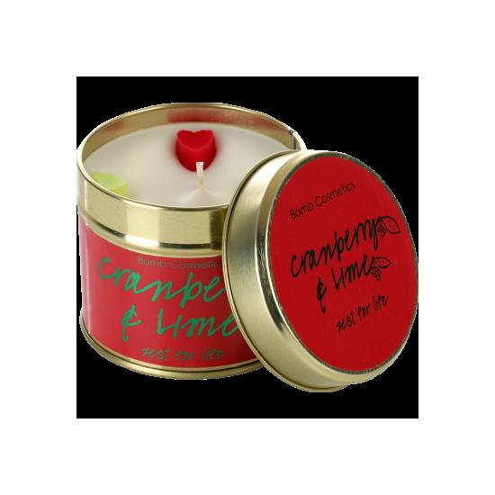 Świeca zapachowa w puszce ŻURAWINA z LIMETKĄ Bomb Cosmetics