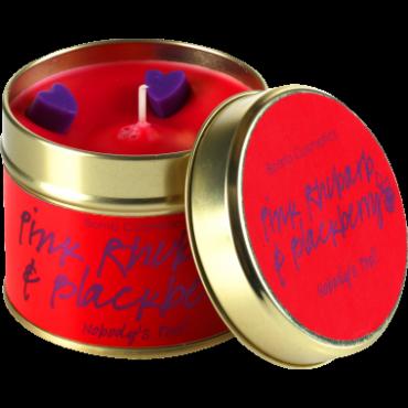 Świeca zapachowa w puszce RABARBAR z JEŻYNĄ Bomb Cosmetics