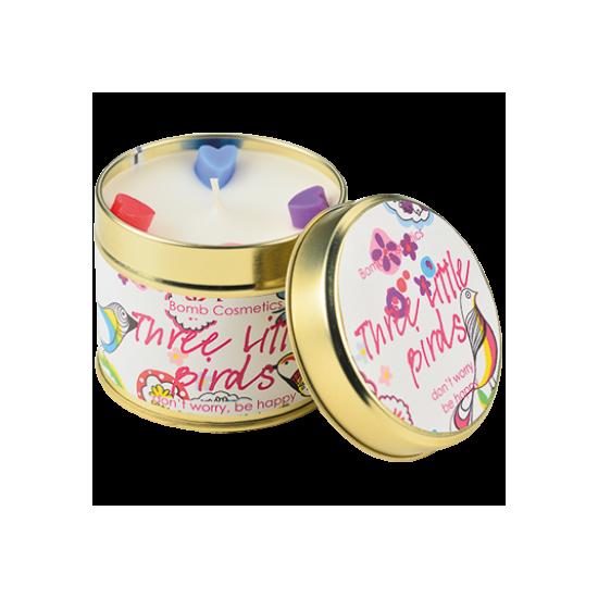 Świeca zapachowa w puszce TRZY MAŁE PTASZKI Bomb Cosmetics