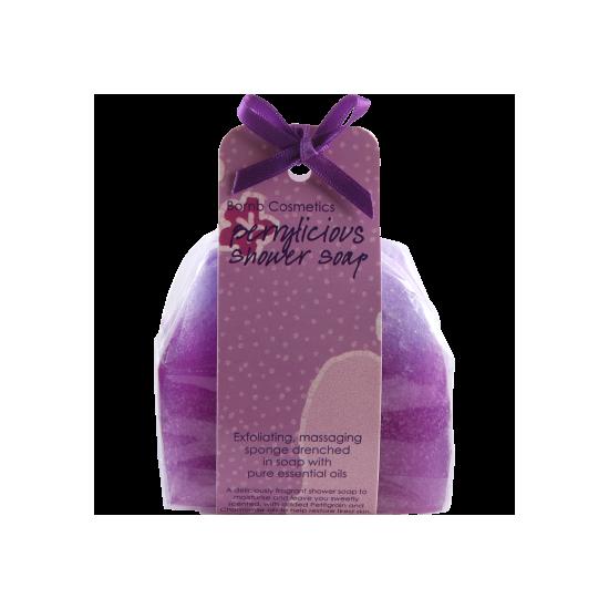 Masujące mydło pod prysznic JEŻYNOWE Bomb Cosmetics