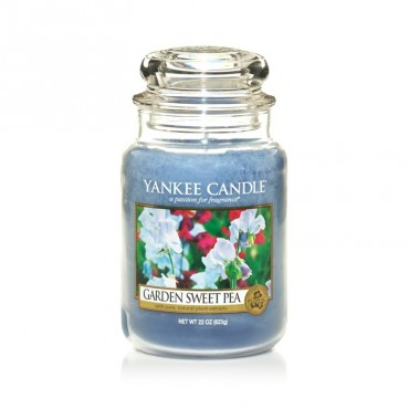 Duża świeca Garden Sweet Pea Yankee Candle