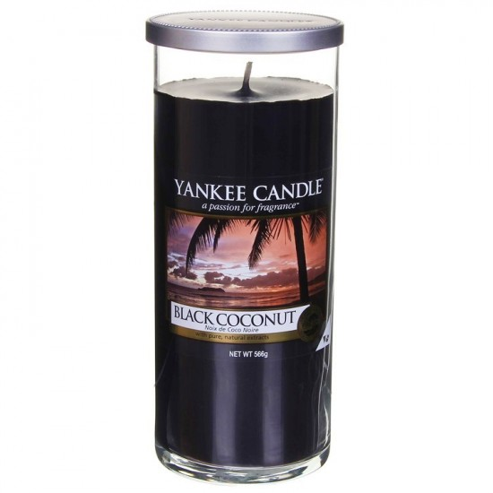 Duży pilar Black Coconut Yankee Candle
