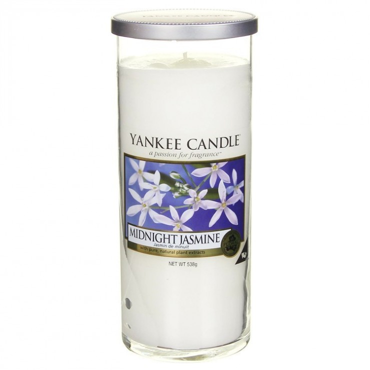 Duży pilar Midnight Jasmine Yankee Candle