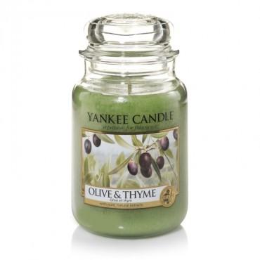 Duża świeca Olive & Thyme Yankee Candle