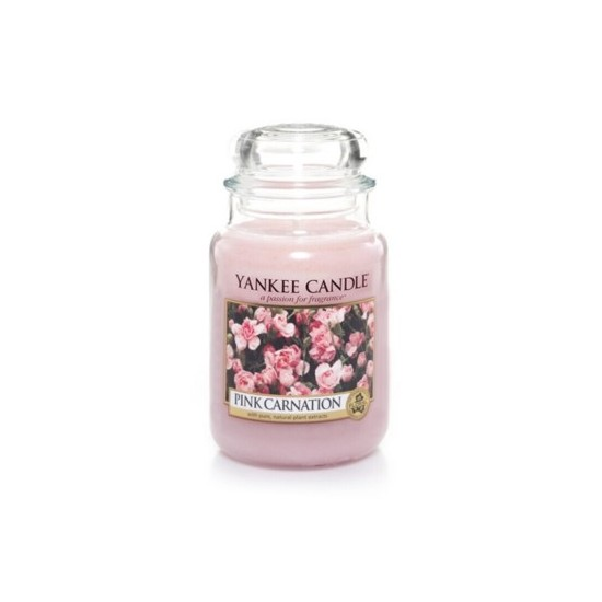 Duża świeca Pink Carnation Yankee Candle