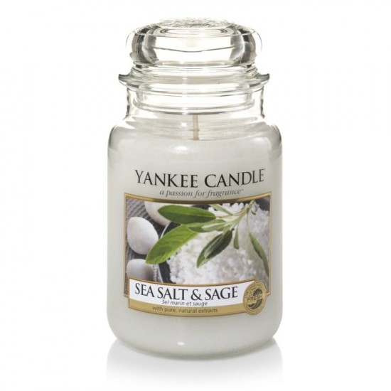 Duża świeca Sea Salt & Sage Yankee Candle