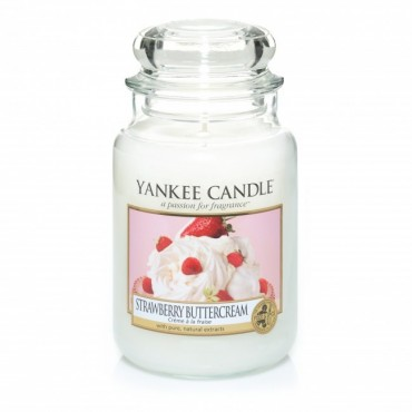 Duża świeca Strawberry Buttercream Yankee Candle