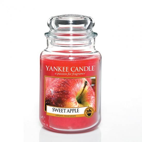 Duża świeca Sweet Apple Yankee Candle