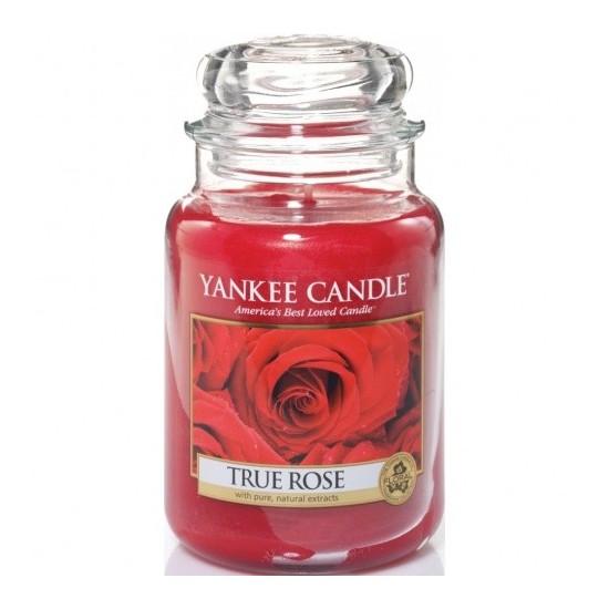 Duża świeca True Rose Yankee Candle