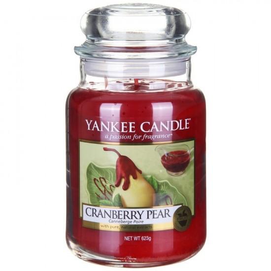 Duża świeca Cranberry Pear Yankee Candle