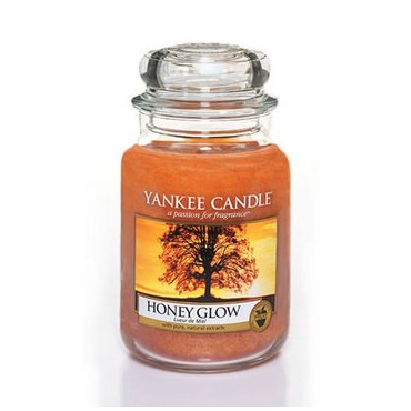 Duża świeca Honey Glow Yankee Candle