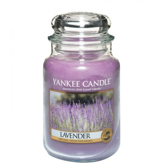 Duża świeca Lavender Yankee Candle