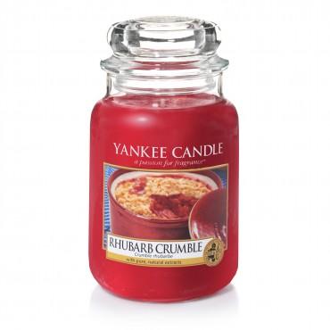 Duża świeca Rhubarb Crumble Yankee Candle