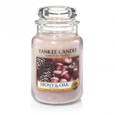 Duża świeca Ebony & Oak Yankee Candle