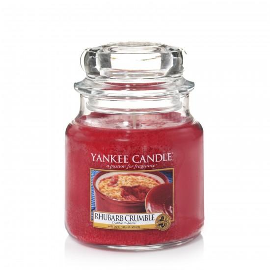 Średnia świeca Rhubarb Crumble Yankee Candle