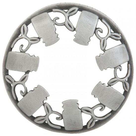 WBLC Illumalid® Brushed Silver - nakładka na słoik