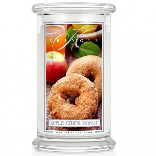 Duża świeca Atkins Cider Donut Kringle Candle