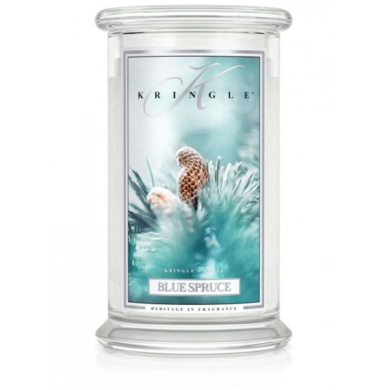 Duża świeca Blue Spruce Kringle Candle
