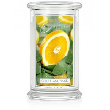 Duża świeca Citrus and Sage Kringle Candle
