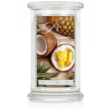 Duża świeca Coconut Pineapple Kringle Candle