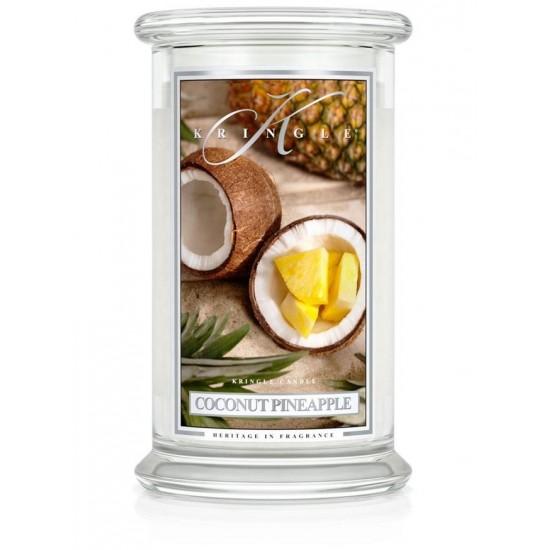 Duża świeca Coconut Pineapple Kringle Candle