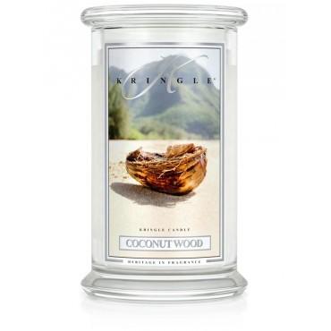Duża świeca Coconut Wood Kringle Candle