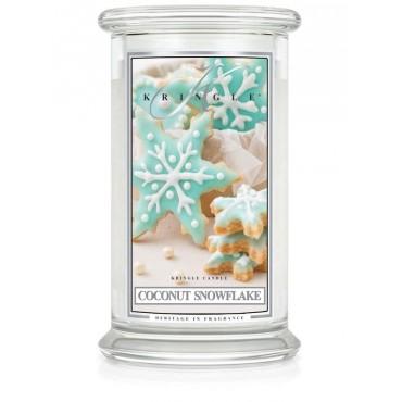 Duża świeca Coconut Snowflake Kringle Candle