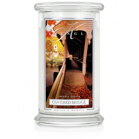 Duża świeca Covered Bridge Kringle Candle