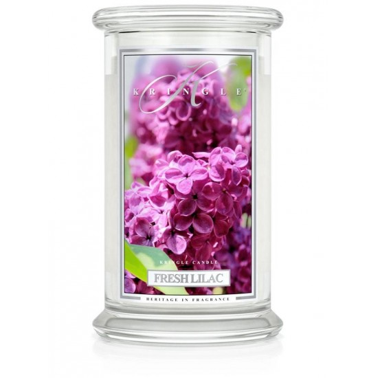Duża świeca Fresh Lilac Kringle Candle