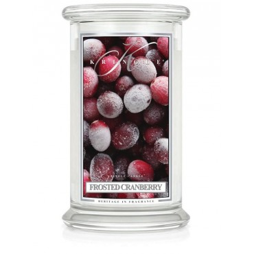 Duża świeca Frosted Cranberry Kringle Candle