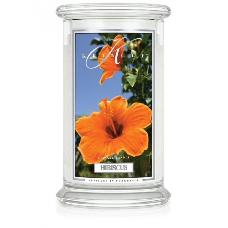 Duża świeca Hibiscus Kringle Candle