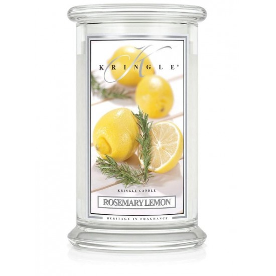 Duża świeca Rosemary Lemon Kringle Candle